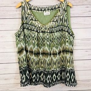 Lane Bryant Tank Top - 3X Green Sequins